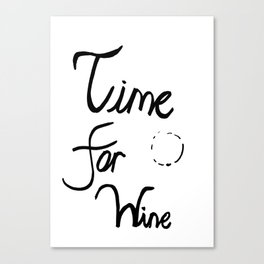 Time for wine II Canvas Print