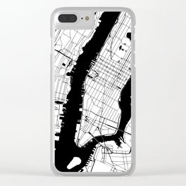 New York City Minimal Map Clear iPhone Case