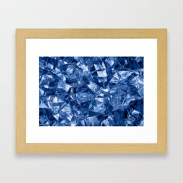 Crushed ice background Framed Art Print