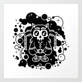 Black character design skull Art Print