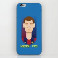 messi iPhone & iPod Skins featuring Messi Barcelona by Sport_Designs