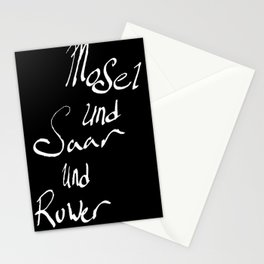 Mosel und Saar und Ruwer B/W Stationery Cards