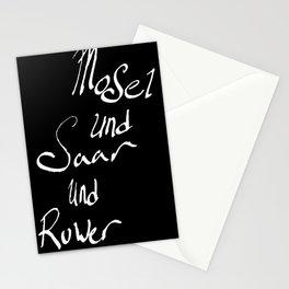 Mosel und Saar und Ruwer B/W Stationery Cards