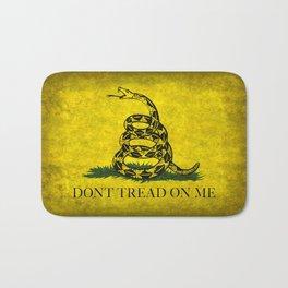 Gadsden Don't Tread On Me Flag - Distressed Retro Bath Mat