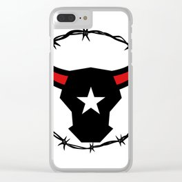 Texas Longhorn Barbed Wire Icon Clear iPhone Case