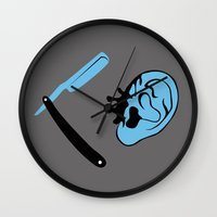 reservoir dogs Wall Clocks featuring Reservoir Dogs by FilmsQuiz
