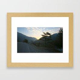Himalayan Mountains at Sunrise Framed Art Print