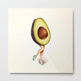 Avocado Girl Metal Print