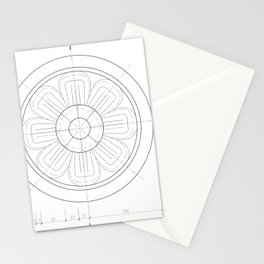 Small architectural rosette Stationery Cards