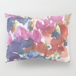 Pink Iris Splash Pillow Sham