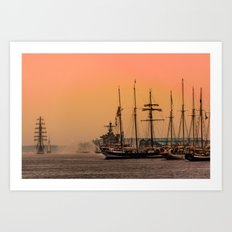 sail boston - sunrise Art Print