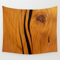 wooden Wall Tapestries featuring Wooden texture by DistinctyDesign