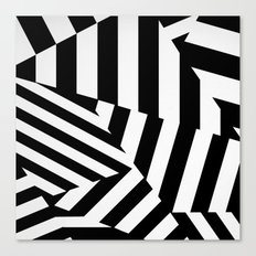 RADAR/ASDIC Black and White Graphic Dazzle Camouflage Canvas Print
