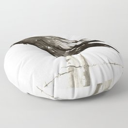 Raven's Call Floor Pillow