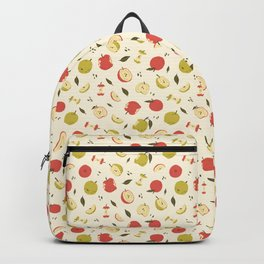Apple Pattern Backpack