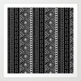Black Mudcloth Art Print