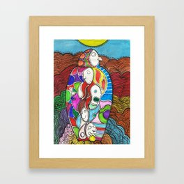 herencia  (inheritance) Framed Art Print