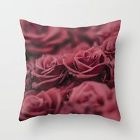 moulin rouge Throw Pillows featuring Rouge by Zayda Barros