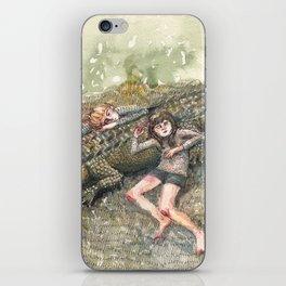 Crocodile Nap iPhone Skin