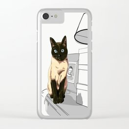 I am siamese if you please Clear iPhone Case