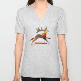 Elk Spirit (BRYB) Unisex V-Neck