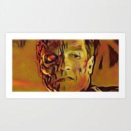Terminator Artistic Illustration Molten Metal Style Art Print