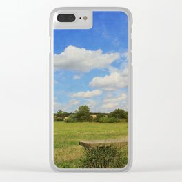 Sit and Enjoy The Countryside Clear iPhone Case