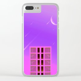 Fallen Stars Clear iPhone Case