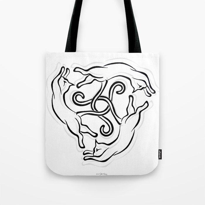 CAT KNOT Tote Bag
