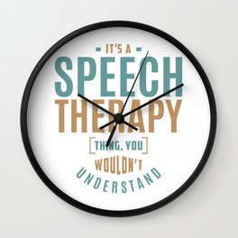 Speech Therapy Thing Wall Clock