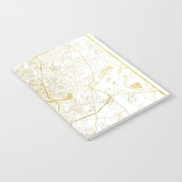 Austin Map Gold Notebook