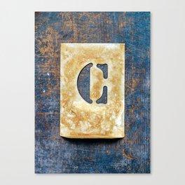 Letter C Canvas Print