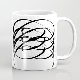 Family - Minimalism Drawing Black White Coffee Mug