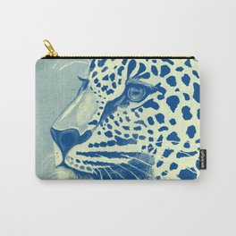 Leopard Turquoise feline glance Carry-All Pouch