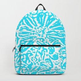 Marigold Lino Cut, Turquoise Backpack