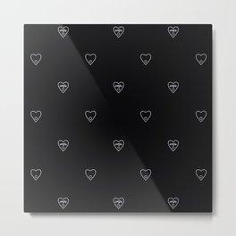 Ouija Hearts V Metal Print