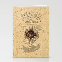 marauders Stationery Cards featuring MARAUDERS MAP by Graphic Craft