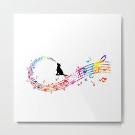Musical Dog Metal Print
