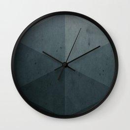 geometric gray shades Wall Clock