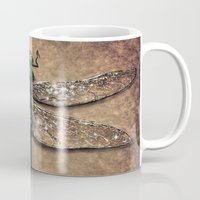 dragonfly Mugs featuring Dragonfly  by Werk of Art