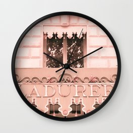 Paris in Blush Pink IV Wall Clock