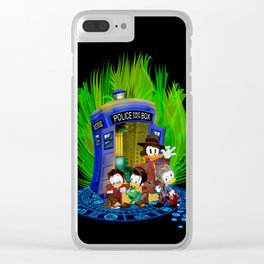 The Doctor Duck 4th 10th 11th and 12th who Tales iPhone 4 4s 5 5s 5c, ipod, ipad, pillow case tshirt Clear iPhone Case