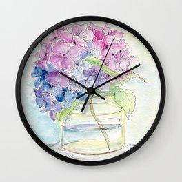 Hydrangea, Still Life Wall Clock