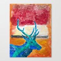 rothko Canvas Prints featuring Deer Rothko by winterkl