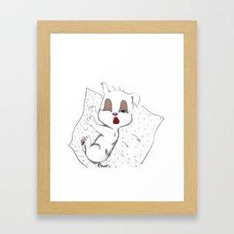 Sleepy Puppy Framed Art Print