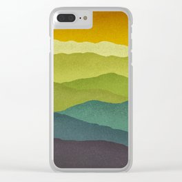 Mountain Colors Clear iPhone Case
