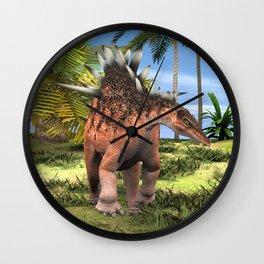 Dinosaur Kentrosaurus Wall Clock