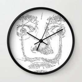 Salvador Dalì WordsPortrait Wall Clock
