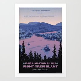 Parc National du Mont-Tremblant Art Print