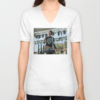 allyson johnson V-neck T-shirts featuring Joyce Manor - Barry Johnson by chrisofarc